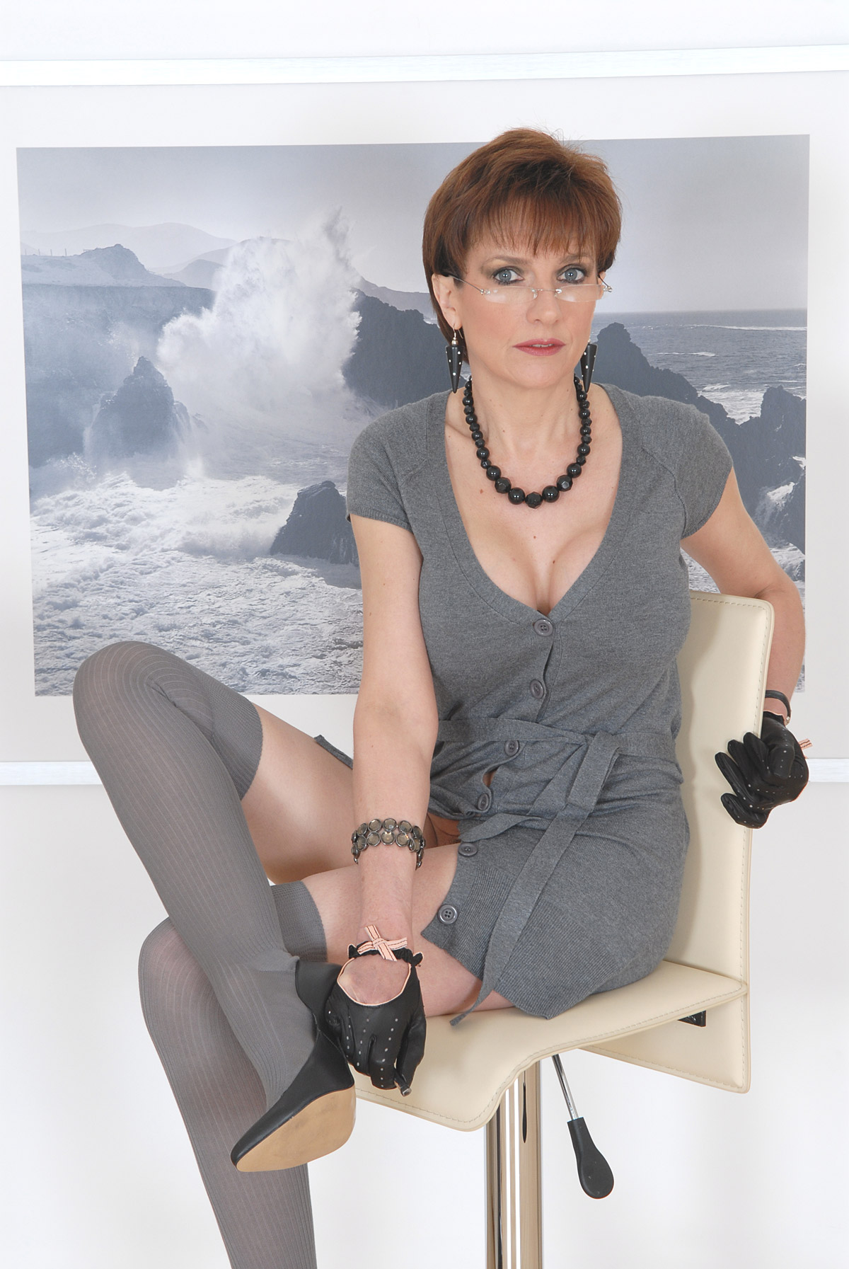Agree, very lady sonia handjob in leather gloves
